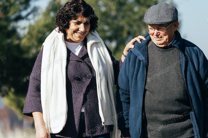 Senior Couple walking.