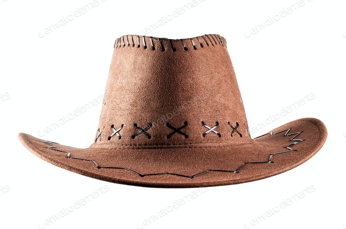 Cowboy-Hut aus Leder
