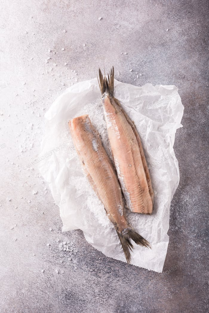 Freshly salted herring