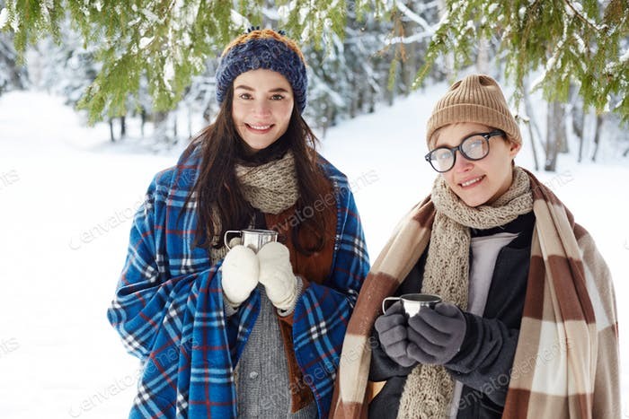 Young Women on Winter Vacation