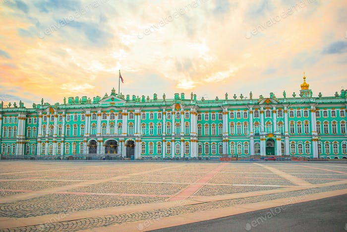Hermitage on Palace Square, St Petersburg, Russia