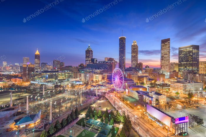 Atlanta, Georgia, USA Dawn Skyline