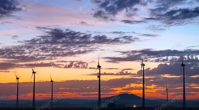 Turning windengines after sunset