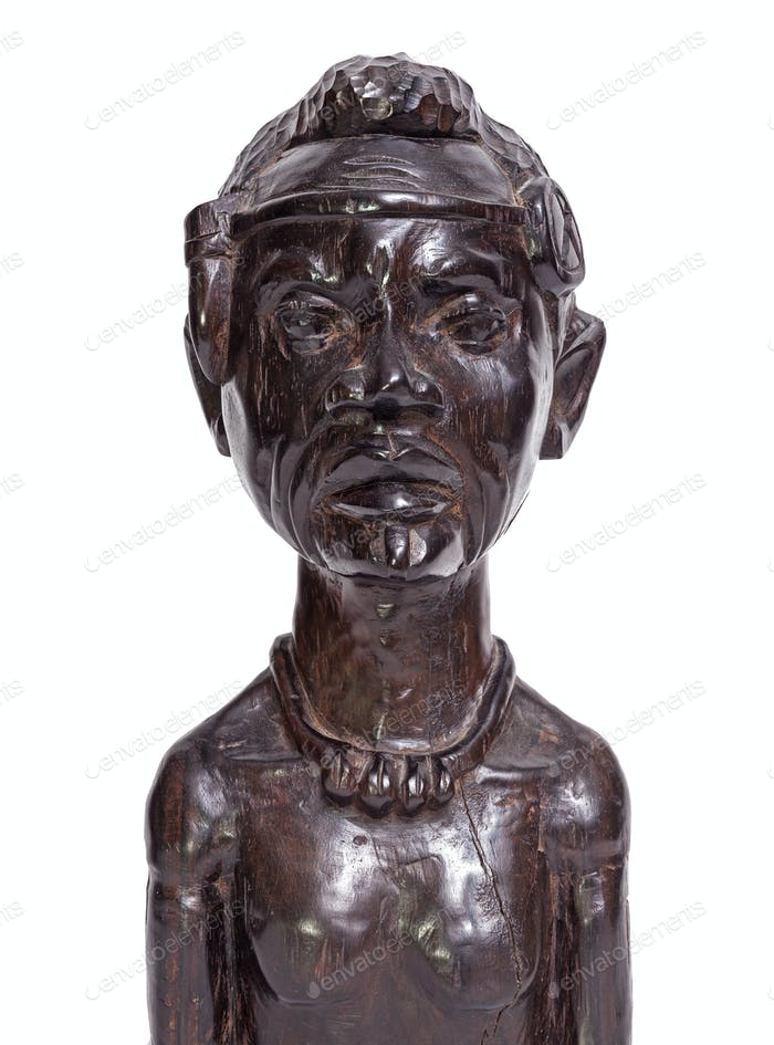 African traditional man bust statuette
