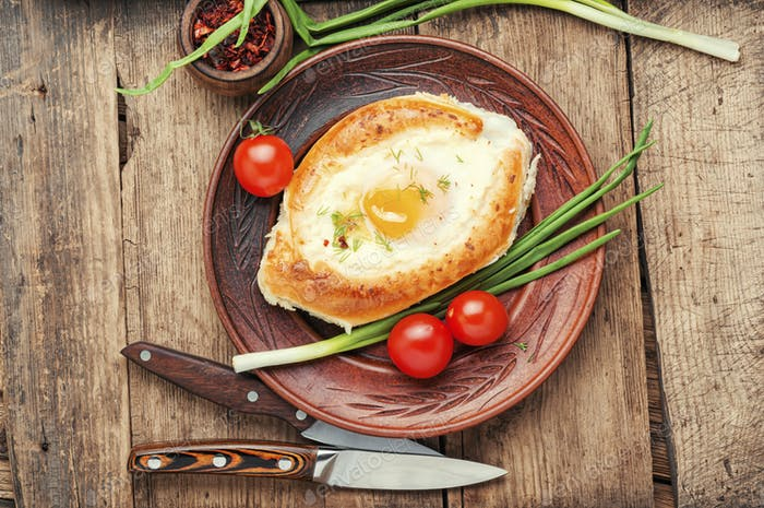 Adjarian Khachapuri with cheese