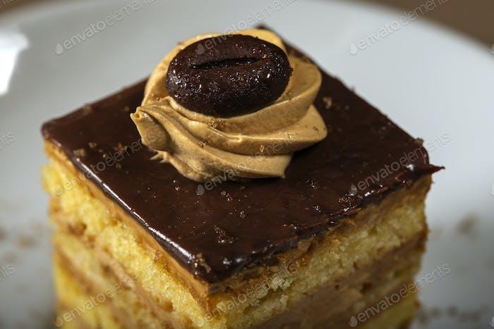 Coffee cake on plate