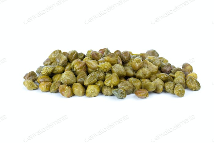 Small pile of marinated capers