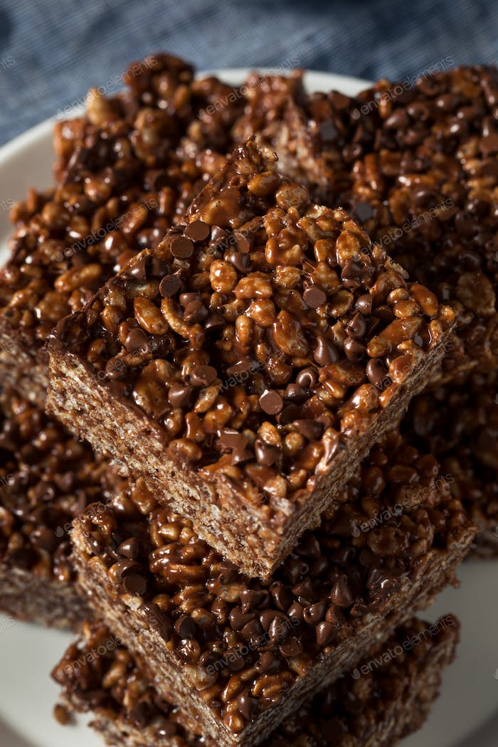 Homemade Chocolate Rice Crispy Treats