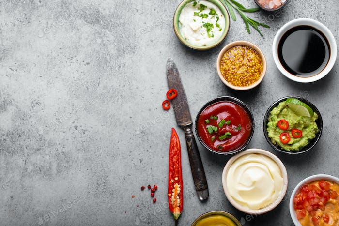 Cooking different sauces