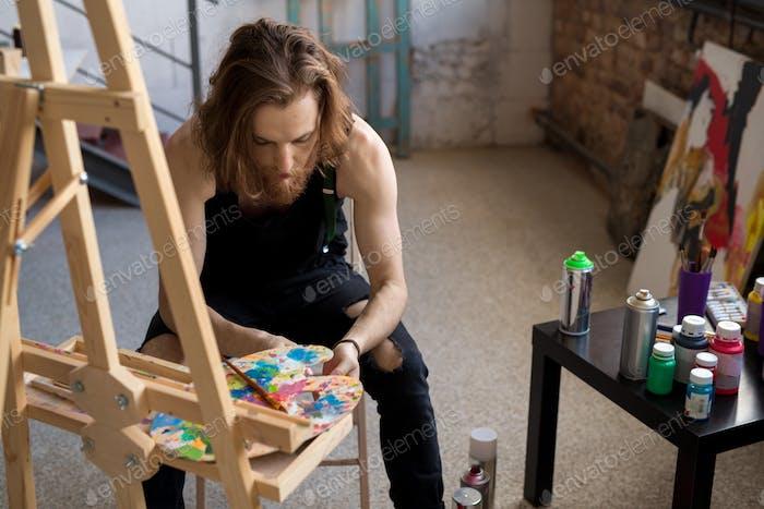 Künstler auf der Suche nach Inspiration