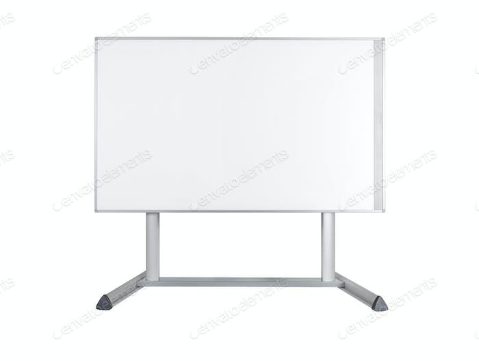 Whiteboard isolated on white