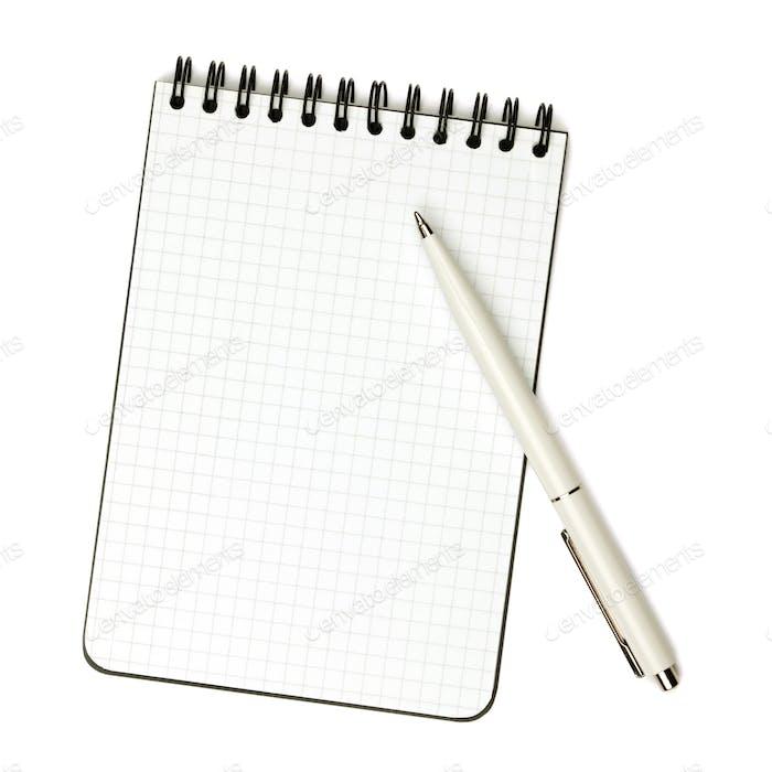Stift auf Notizblock