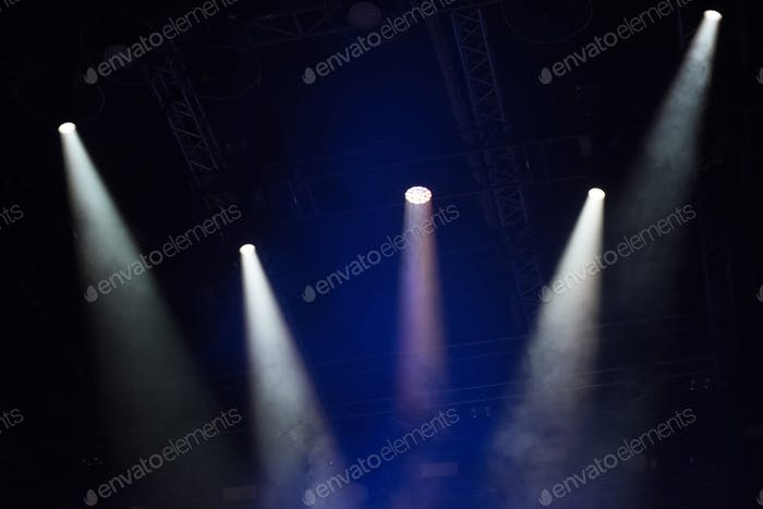 Stage lights at music festival