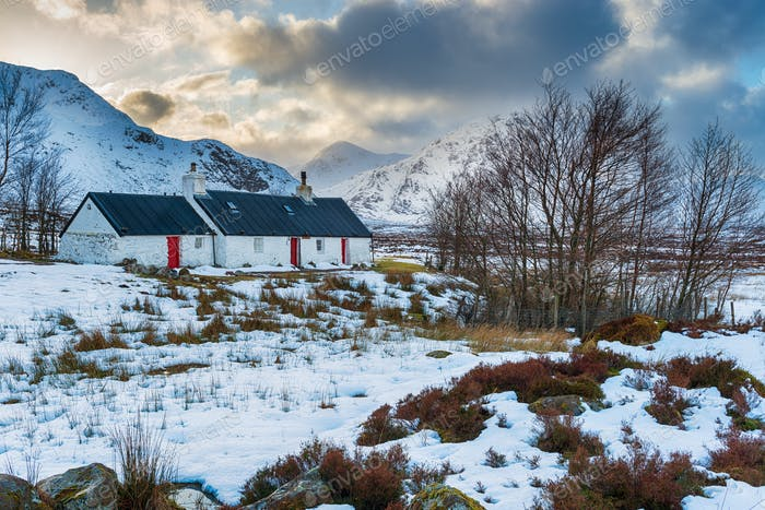Winter in Glencoe in Schottland