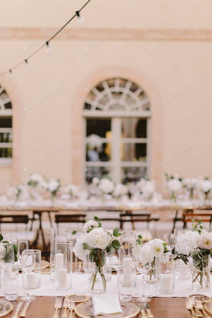 Hochzeitsempfang Party Bankett Tisch Abdeckung
