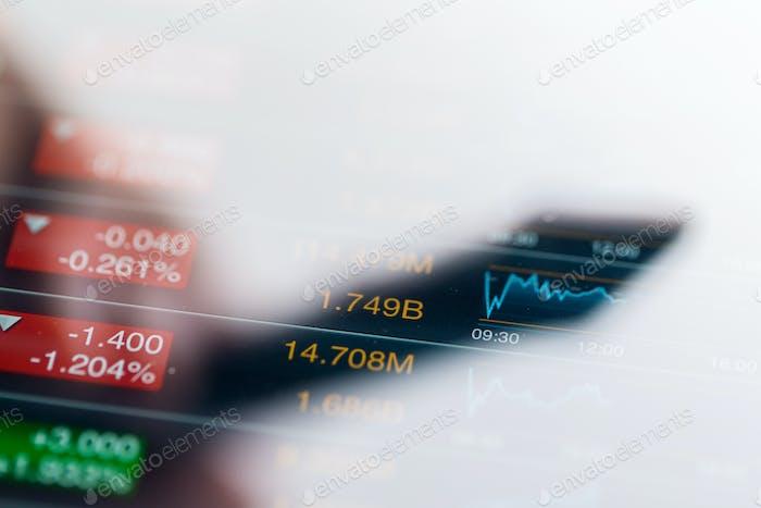 Börse auf dem Bildschirm