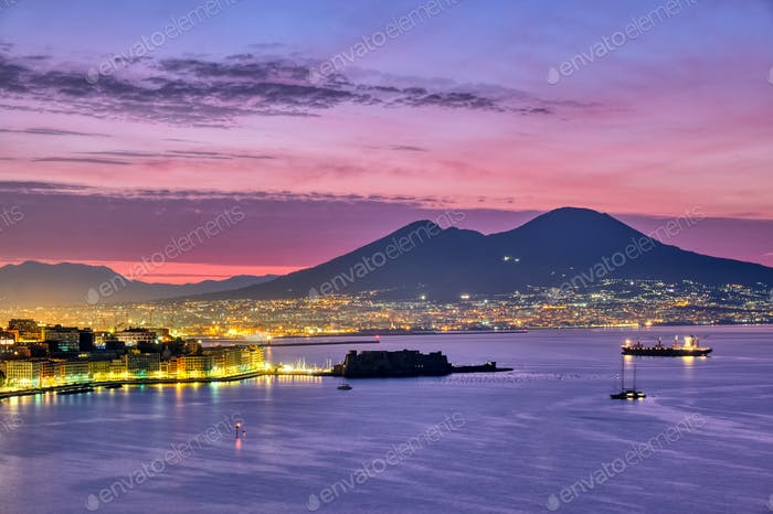 Mount Vesuvius and the gulf of Naples