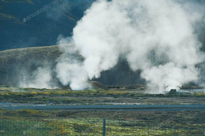 Iceland Geyser Thermal