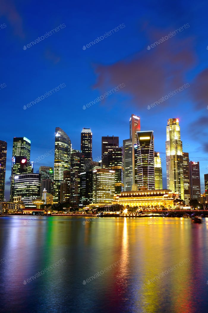 city night view for singapore