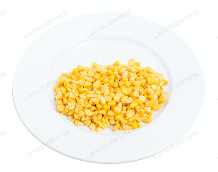 Portion of delicious canned corn.