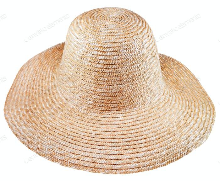 einfache ländliche Strohhut mit breiter Krempe