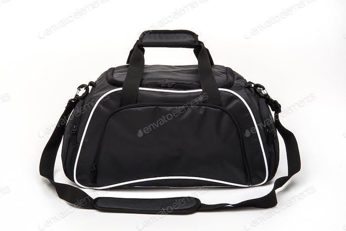 Golf Bag in Black Colour on White Background for Travel