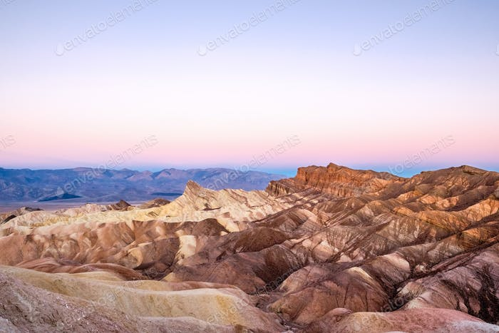 Death Valley National Park - Zabriskie Point at sunrise