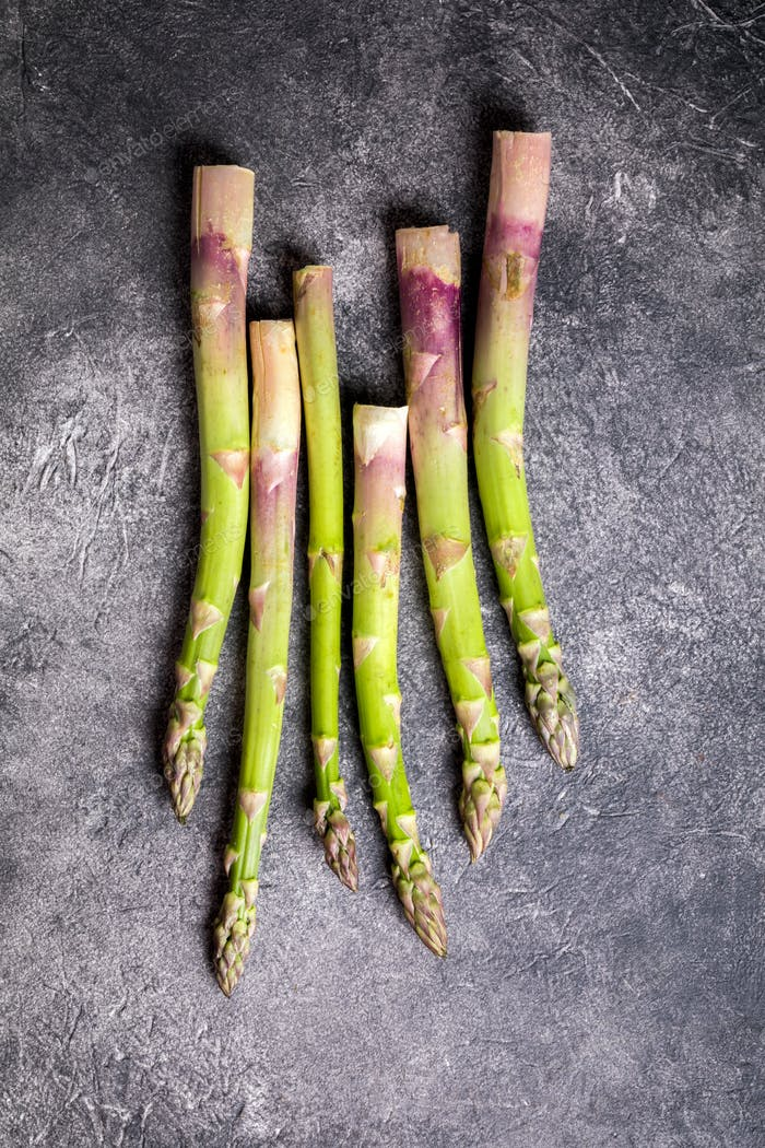 Fresh green asparagus. Concept of healthy eating. Food for vegetarians.