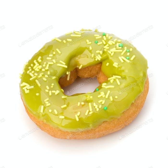 Delicious doughnut isolated on white background