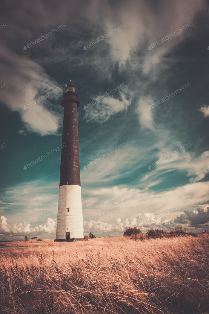 Lighthouse against  beautiful cloudscape