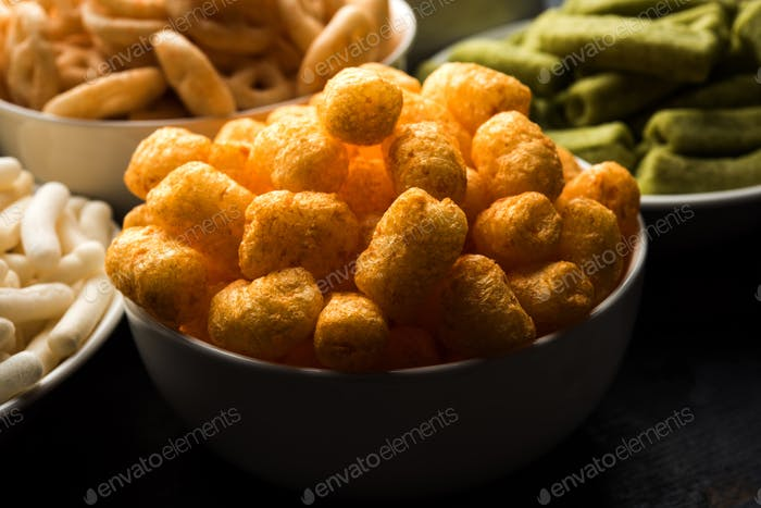 Group of Crunchy Snacks