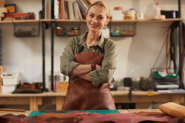 Confident Female Artisan Portrait