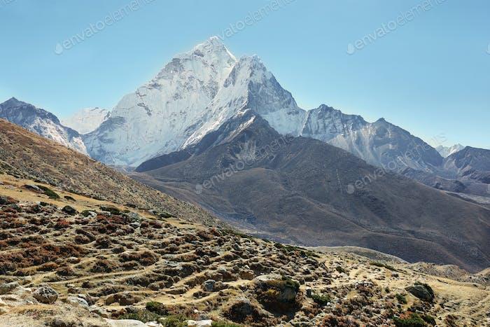 Blick auf die Berge von Ama Dablan