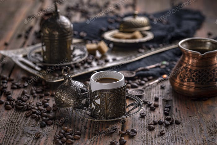 Turkish coffee concept