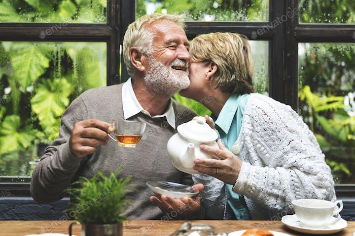Afternoon Tea Freizeit Casual Ältere Konzept