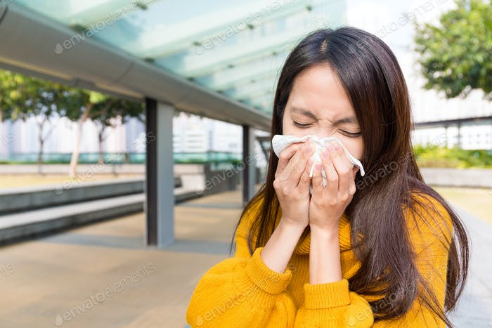 Woman got cold
