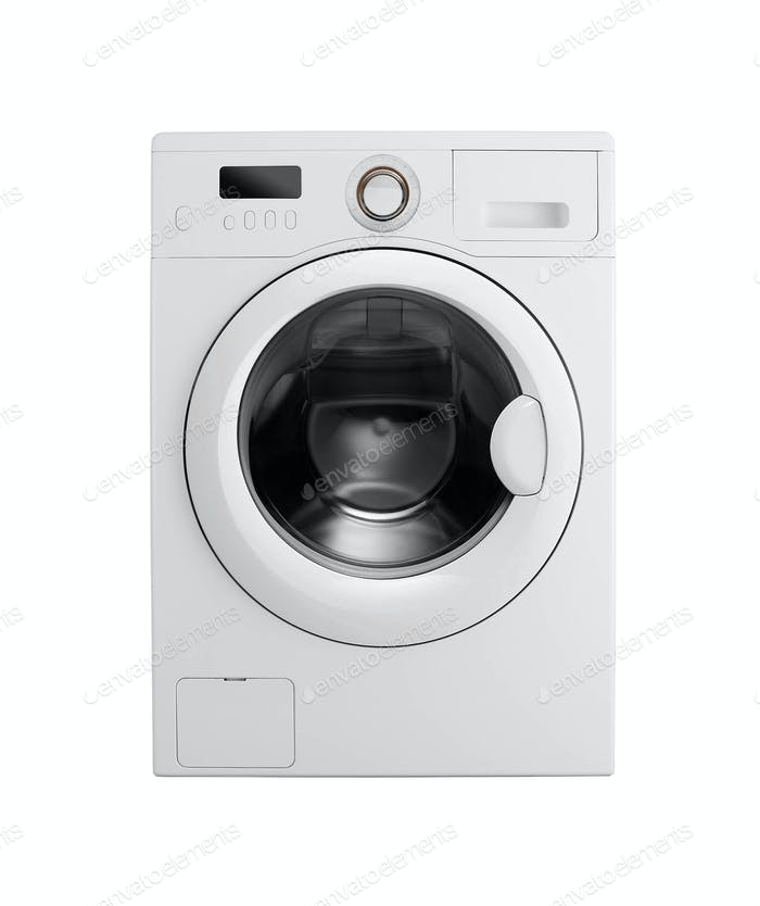 Washing machine on the white background
