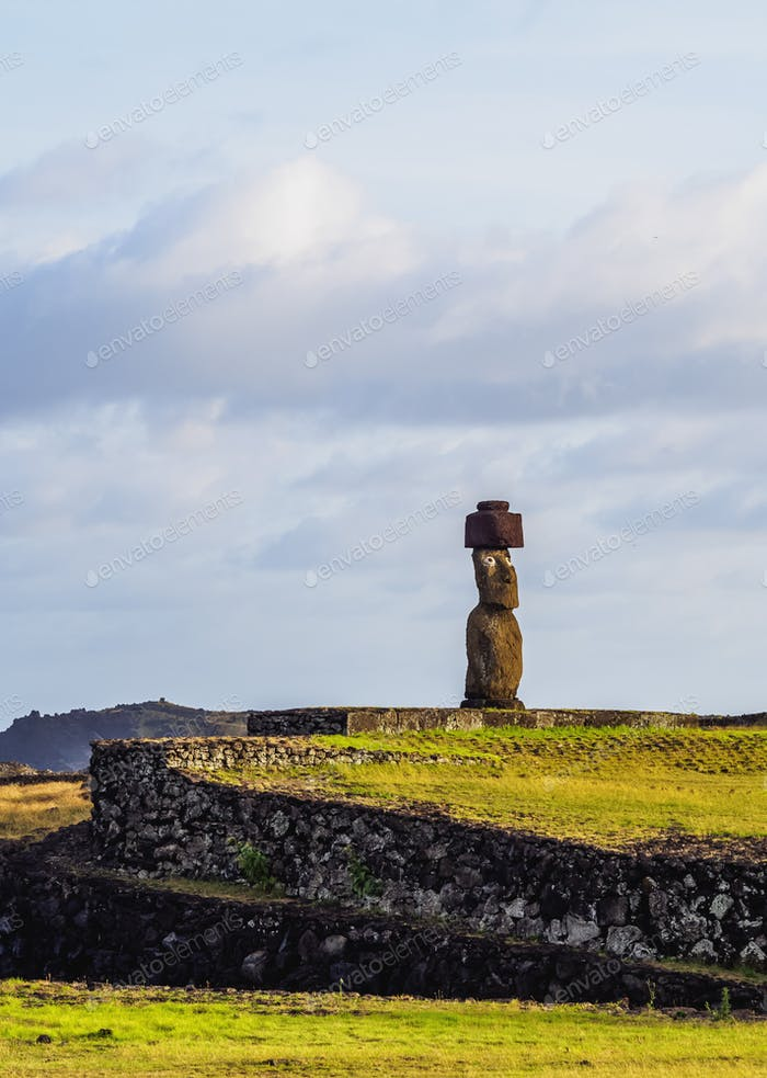 Moai on Easter Island, Chile