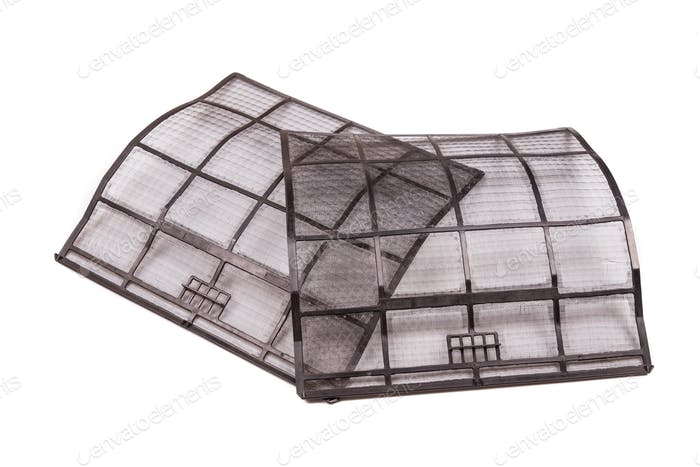 Clean air conditioning unit filters to trap dust and particles