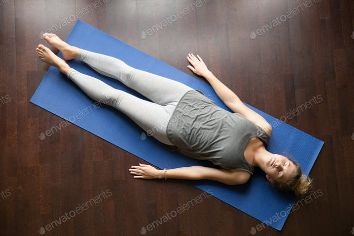 Yoga at home: resting posture