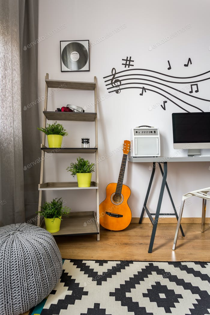 Cooles und lebendiges Musik-Studio