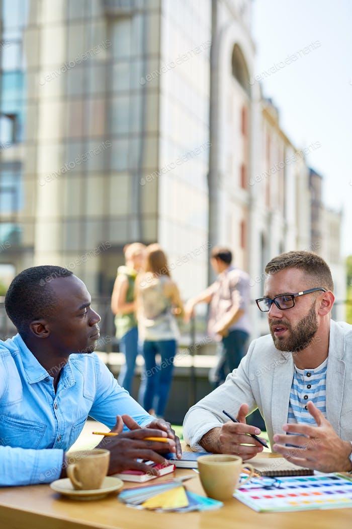 Conversation of men