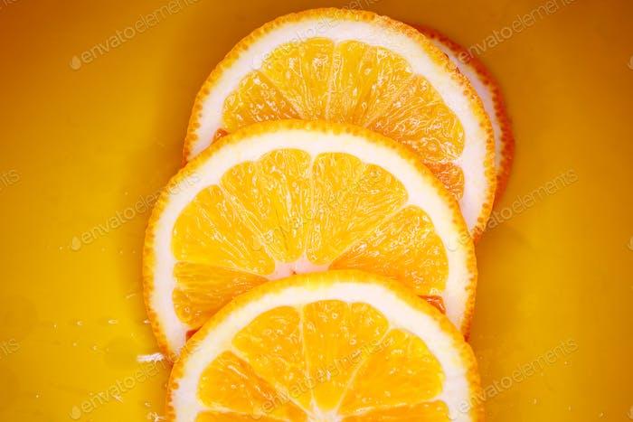 Geschnittener orangefarbener Hintergrund
