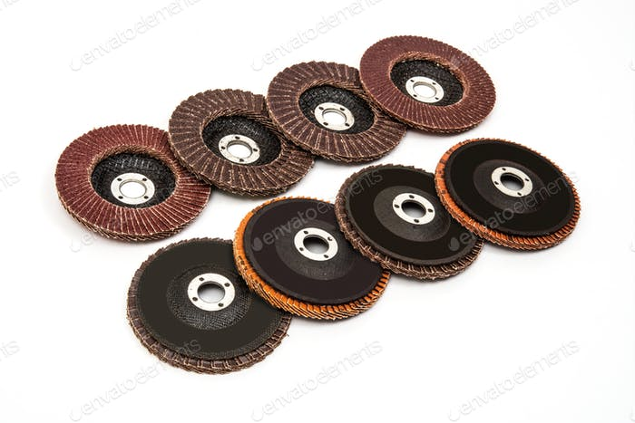 Industrial grinding and polishing discs set