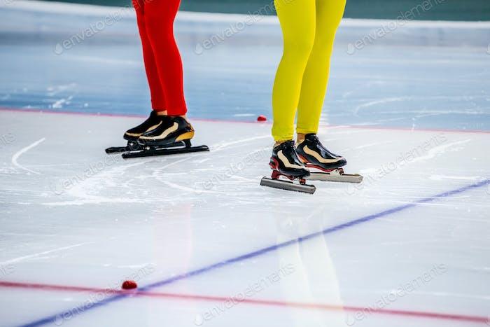 LegsTwo Woman Speed Skaters