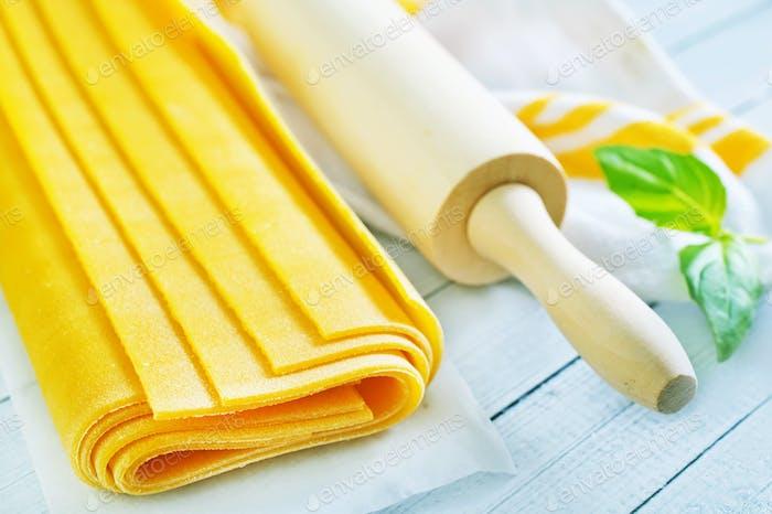Teig für Lasagne