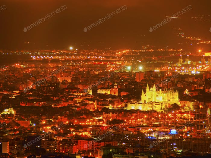 Aerial view of Palma of Majorca