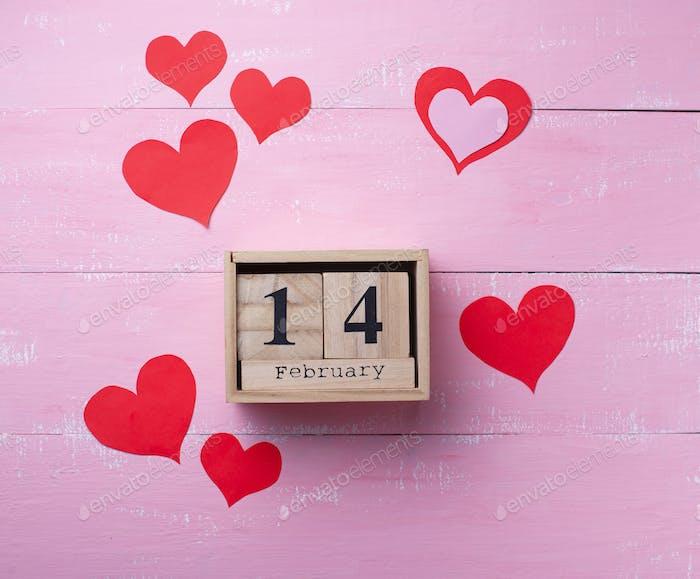 День Святого Валентина фон на розовом