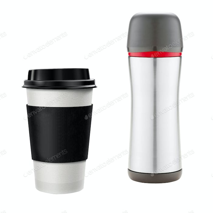 Coffee Cup and thermos
