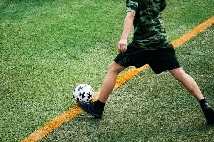 Fußballfeld Hintergrund